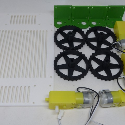 P1110638.JPG Download free STL file Rovy mobile robot for Geared Motor 6v • 3D printable object, AranaCorp