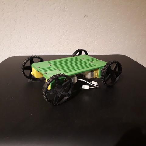rovy-ttgearmotor6v.jpg Download free STL file Rovy mobile robot for Geared Motor 6v • 3D printable object, AranaCorp