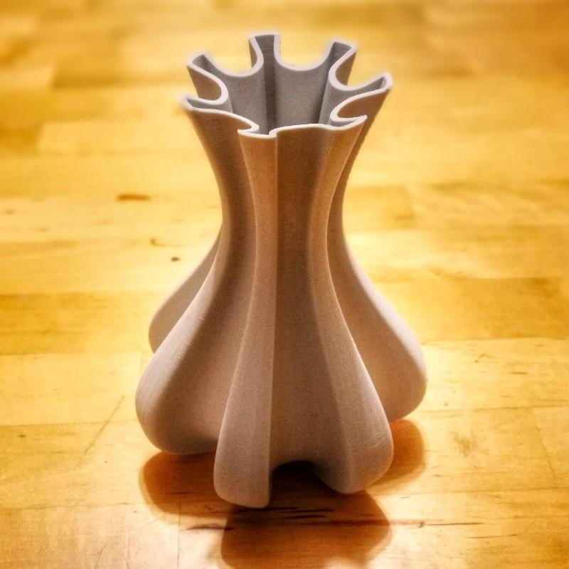 """cog-vase.jpeg Download free STL file """"Cog"""" vase • 3D printing template, Jarek-SRT"""