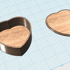 Free 3d printer designs heart shaped box with lid, 20524483