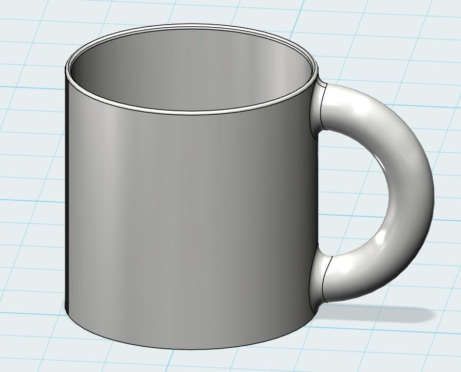 对齐1.jpg Download free STL file Cup • 3D printer object, 20524483