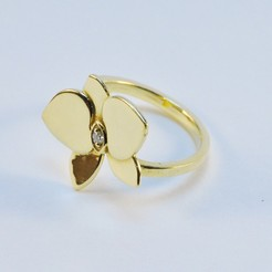 3d printer designs  Flower Ring, fast3dprint