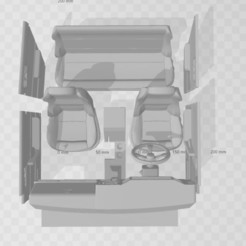 Capture 2.JPG Download STL file Interior for Comanche/cherokee 1/10 • 3D printable model, RCGANG93