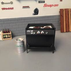 Download 3D printing files BBQ (barbecue) 1/10 for garage/diorama, RCGANG93