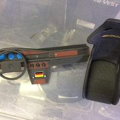STL files Dashboard MERCEDES 190 for rc 1/10 drift, RCGANG93