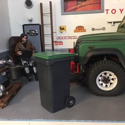 Download 3D printing models Waste bin 1/10, RCGANG93