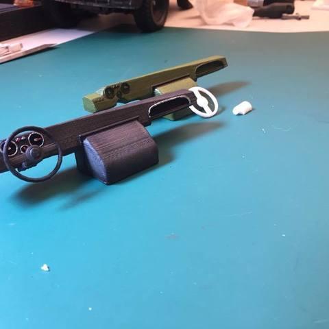 dashboard unimog 406 (tamiya body) STL file, RCGANG93