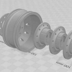 Capture 2.JPG Download STL file Front rims for RC truck 1/10 (1.9) • 3D printer template, RCGANG93