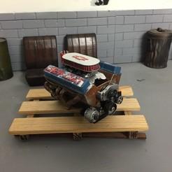 Descargar diseños 3D V8 chevrolet 1/10, RCGANG93