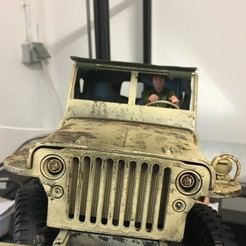 IMG_2663.JPG Download STL file Soldier driver for jeep WPL 1/16 • 3D printable model, RCGANG93