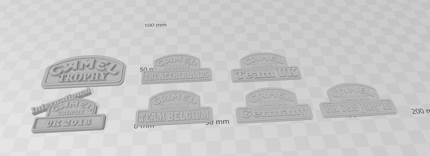Capture.JPG Download free 3MF file Logos CAMEL TROPHY team's 1/10 (rc scale,crawler) • 3D printable design, RCGANG93