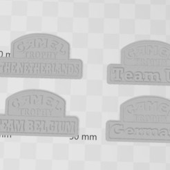 Download free 3D printing models Logos CAMEL TROPHY team's 1/10 (rc scale,crawler), RCGANG93