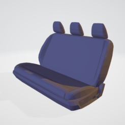 Download 3D printing templates Rear bench seat for scale crawler drift 1/10, RCGANG93