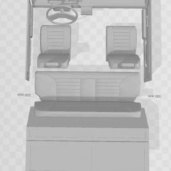 Capture 1.JPG Download STL file Interior for FIAT PANDA body 1/10 • 3D printing model, RCGANG93