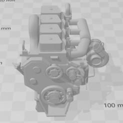 Capture 1.JPG Télécharger fichier 3MF Moteur vintage  4 cylindres diesel 1/10 • Modèle imprimable en 3D, RCGANG93