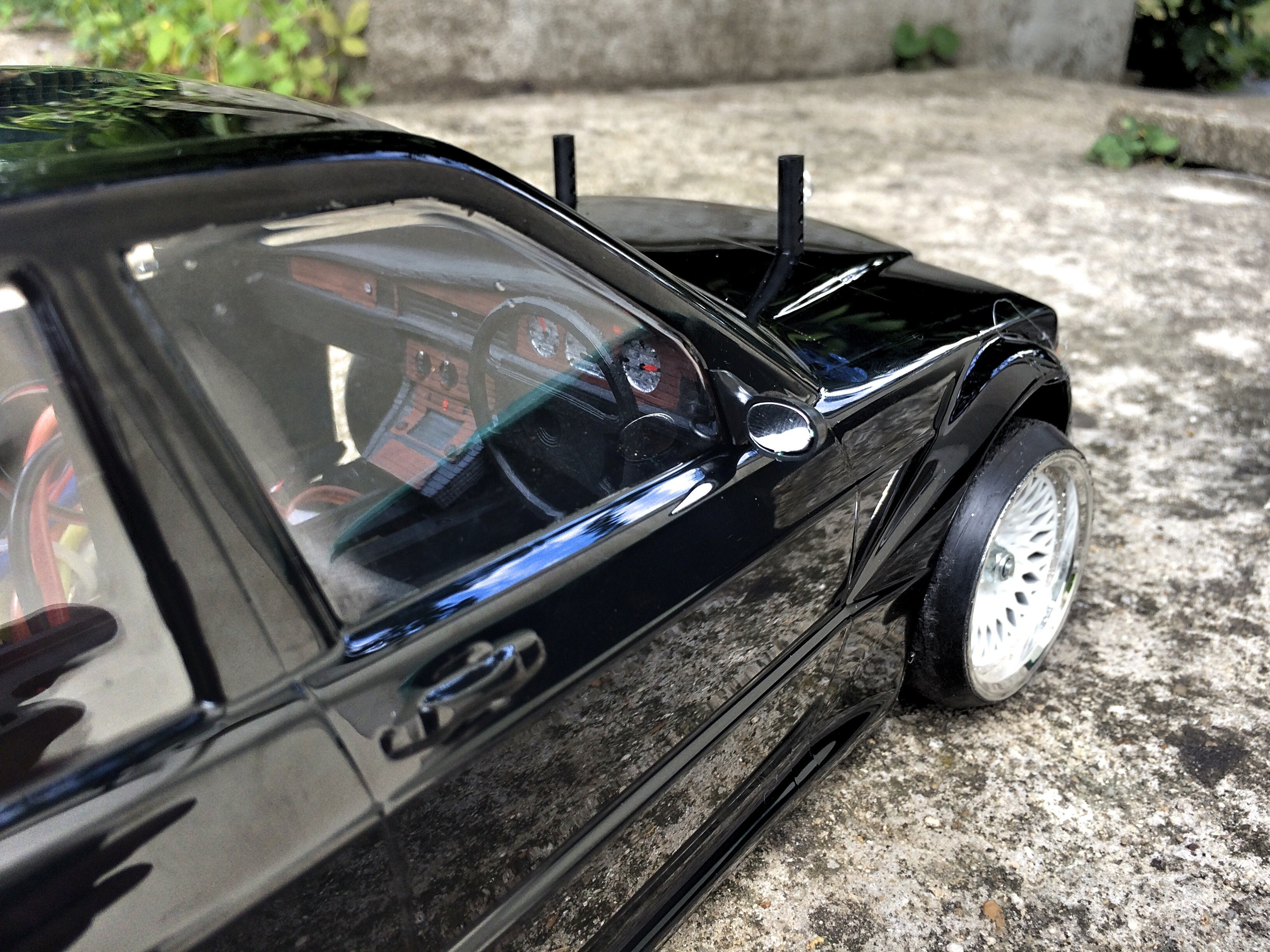 IMG_0267.JPG Download STL file MERCEDES 190 dashboard for rc 1/10 drift • 3D printer object, RCGANG93