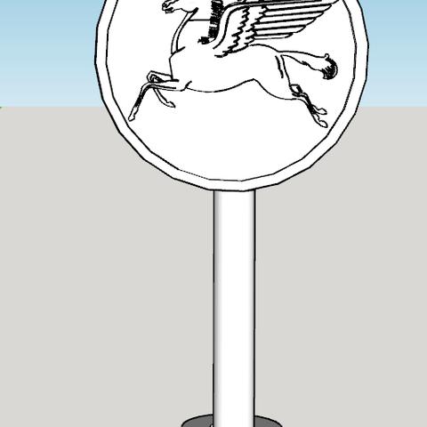 mobil 1.PNG Download free STL file Panel MOBILE vintage garage 1/10 • 3D printing model, RCGANG93