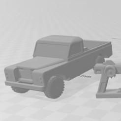 Capture 1.JPG Download STL file RC CAR DIORAMA 1/100 (DEFENDER pickup) • Object to 3D print, RCGANG93