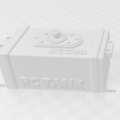 Download 3D printing designs rc tank 1/10 electro box, RCGANG93