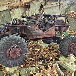 Download STL file Shielding kit for AXIAL WRAITH (mad max), RCGANG93