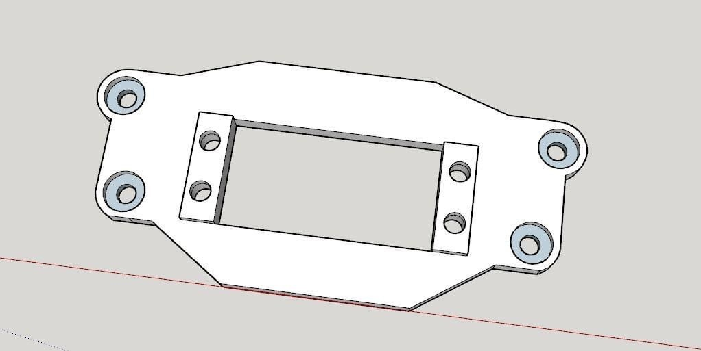 IMG_4740.JPG Download free STL file Front servo bracket for Traxxas TRX4 • 3D printing template, RCGANG93