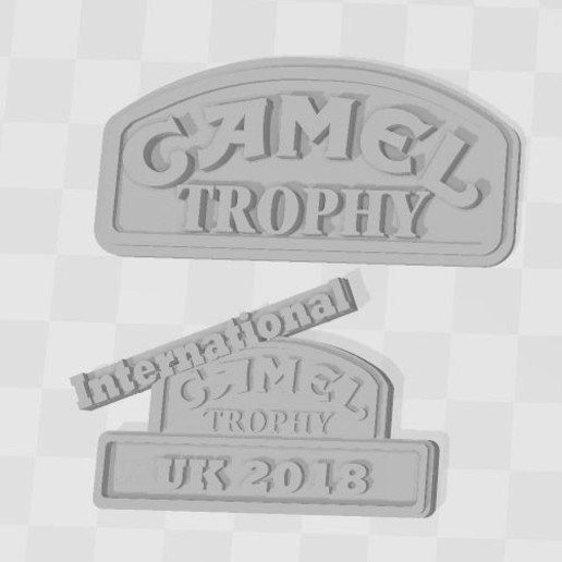 Capture 3.JPG Download free 3MF file Logos CAMEL TROPHY team's 1/10 (rc scale,crawler) • 3D printable design, RCGANG93