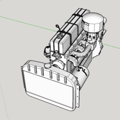 Download STL file 6-cylinder petrol engine for scale 1/10, RCGANG93