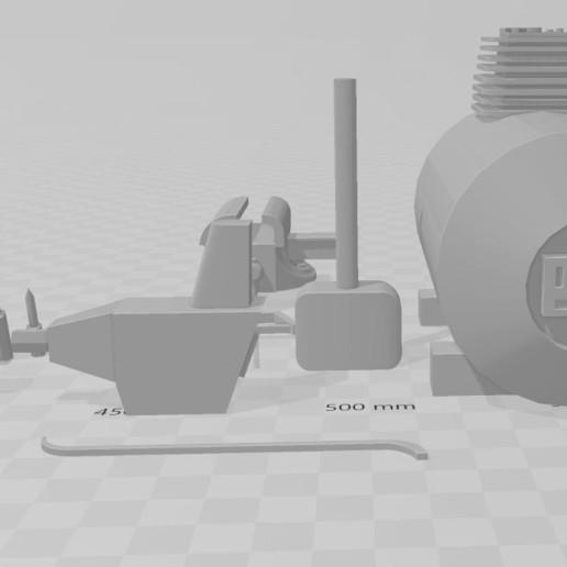 Download free STL file Tools for garage diorama 1/10 • 3D print design, RCGANG93