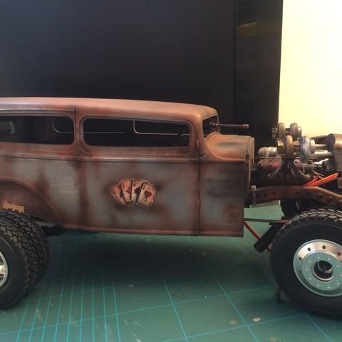 IMG_9343.JPG Download STL file Fury road hotrod bodyshell 1/10 • 3D printing design, RCGANG93