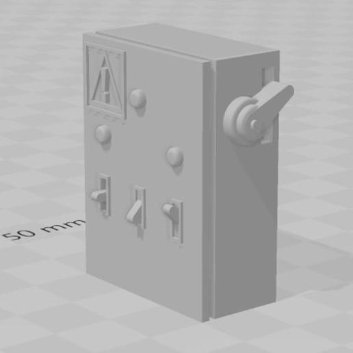 Download free STL file Electric box for DIORAMA garage 1/10 • Model to 3D print, RCGANG93