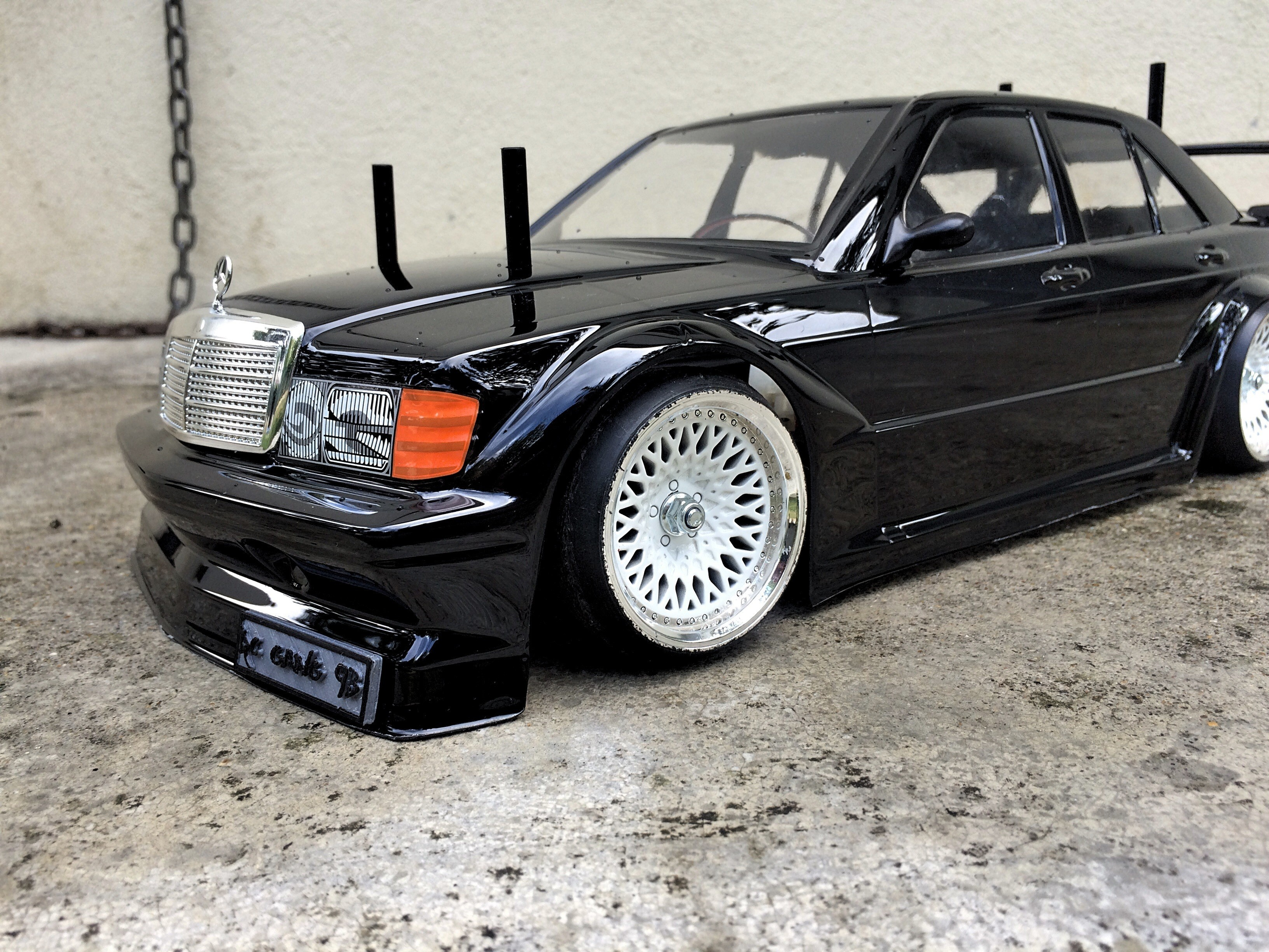 IMG_0256.JPG Download STL file MERCEDES 190 dashboard for rc 1/10 drift • 3D printer object, RCGANG93