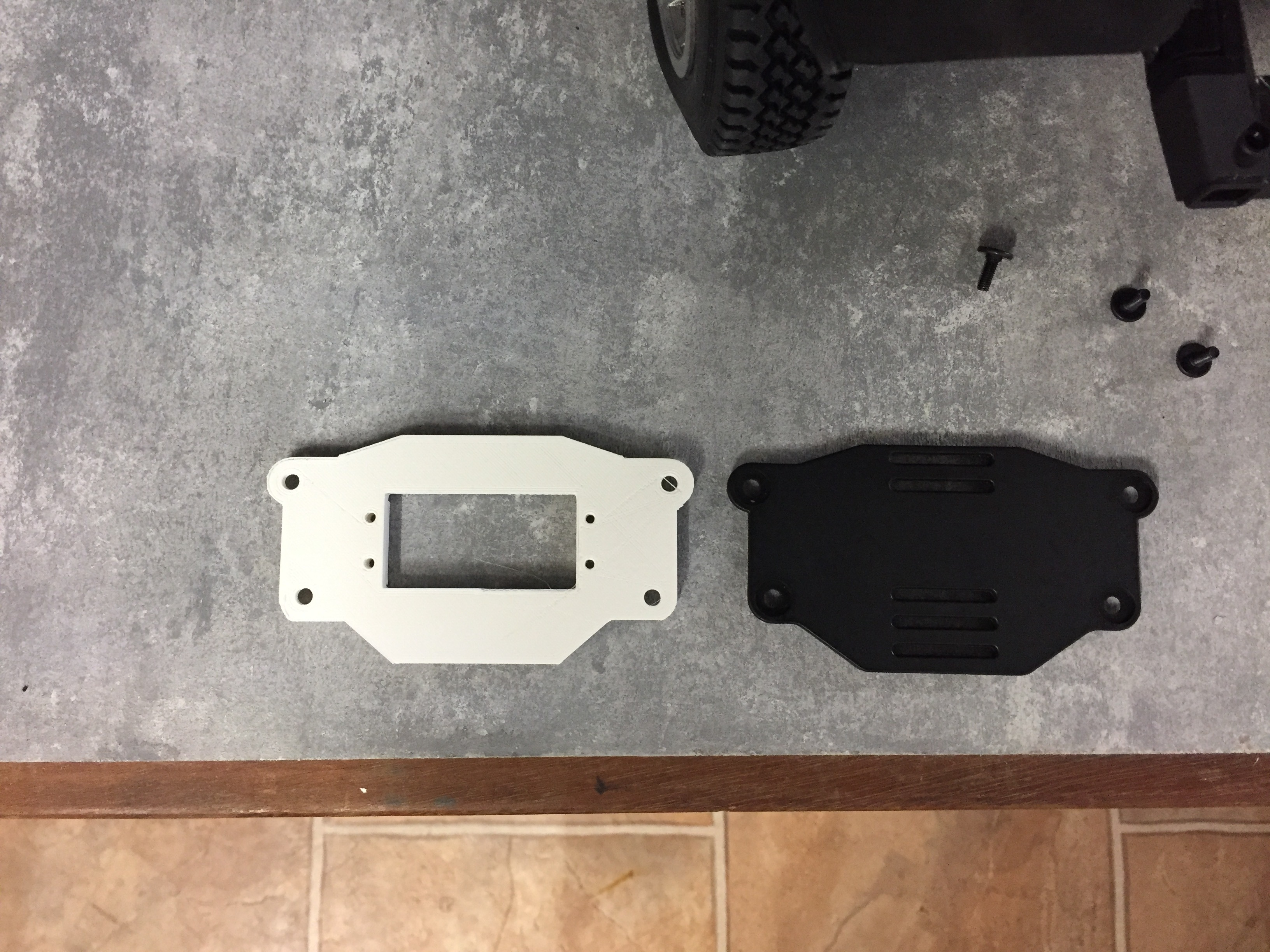 IMG_4739.JPG Download free STL file Front servo bracket for Traxxas TRX4 • 3D printing template, RCGANG93