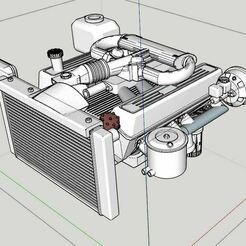 Capture 15.JPG Download STL file Range rover motor (cover540 brushed)+engine bay • 3D printing design, RCGANG93
