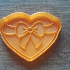 "IMG_20180227_135946.jpg Download STL file COOKIE CUTTERS. FORM FOR CUTTING A COOKIE ""Heart with a bow"" • 3D printing design, dejavydejavy"