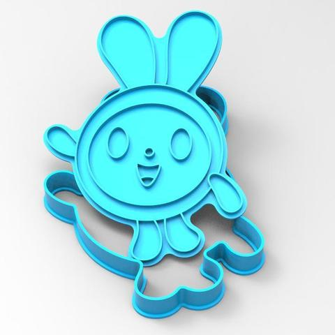 "100_krosh.jpg Download STL file COOKIE CUTTERS. FORM FOR CUTTING A COOKIE ""SMESHARIKI krosh"" • 3D printing object, dejavydejavy"