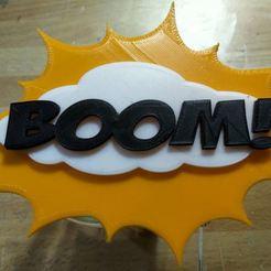 BOOM.JPG Télécharger fichier STL deco cartoon  • Modèle pour imprimante 3D, polaris242