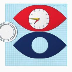 Download 3D printer templates eye clock, polaris242