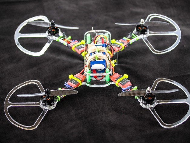 Quad4_preview_featured.jpg Download free STL file Simple, Easy Quadcopter/FPV Racing Drone • 3D printable model, BananaScience