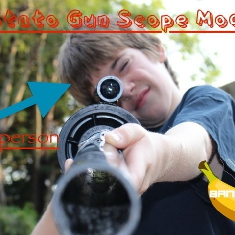 Free 3D print files Potato Gun Scope Mount, BananaScience