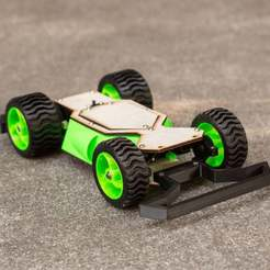 Download free 3D printing templates DIY RC Street Racing Car V2, BananaScience