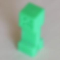 Free 3D printer designs Minecraft creeper, BananaScience