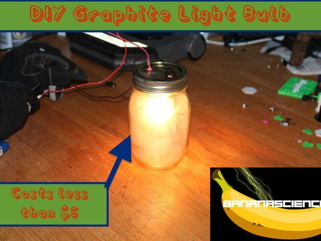 IMG_2899_2_preview_featured.jpg Download free STL file Pencil Lead Light Bulb • 3D printer design, BananaScience