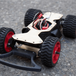 Imprimir en 3D gratis Coche de carreras DIY RC Street: One Week Classroom Project, BananaScience