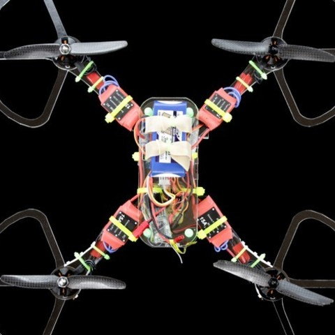 Quad1_preview_featured.jpg Download free STL file Simple, Easy Quadcopter/FPV Racing Drone • 3D printable model, BananaScience
