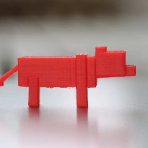 fichier imprimante 3d gratuit minecraft ocelot la poste. Black Bedroom Furniture Sets. Home Design Ideas