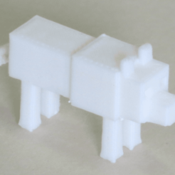 Free Minecraft Wolf STL file, BananaScience