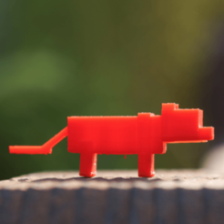 Download free 3D printing designs Minecraft Ocelot, BananaScience
