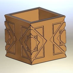 Descargar diseños 3D gratis HZ. SÜLEYMAN recipiente hexagonal para carteles, estuche para lápices, acatalagac