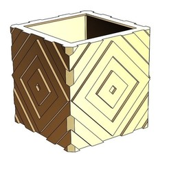 Descargar Modelos 3D para imprimir gratis Cubo de maceta, estuche para lápices, acatalagac