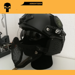 Download STL file Airsoft Modular Mask/Helmet • 3D printer design, Dragoma